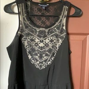 American Eagle black lace tank top